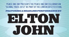Elton John Wembley Arena Peace One Day